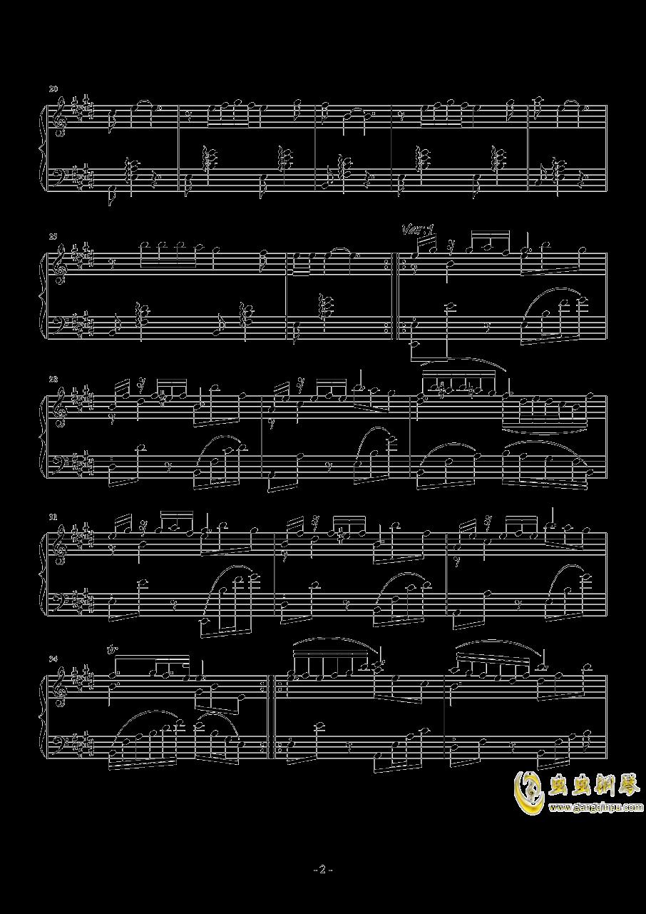 珈百璃主题变奏曲--薇奈的梦钢琴谱 第2页