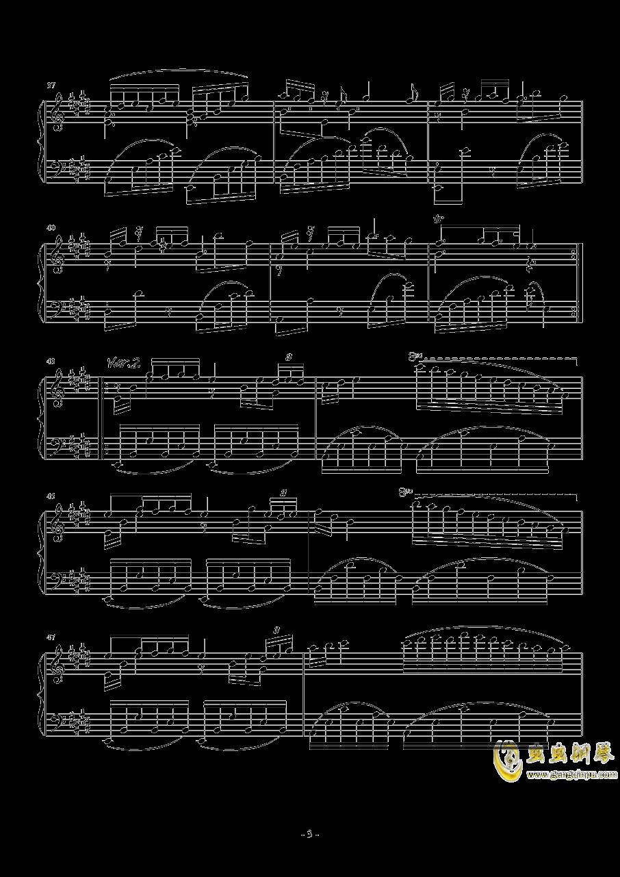 珈百璃主题变奏曲--薇奈的梦钢琴谱 第3页
