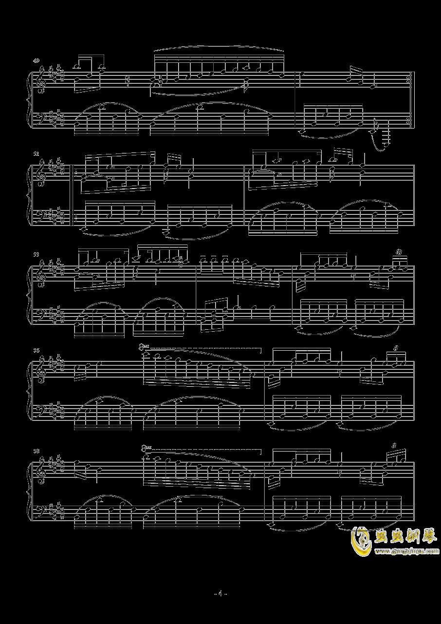 珈百璃主题变奏曲--薇奈的梦钢琴谱 第4页