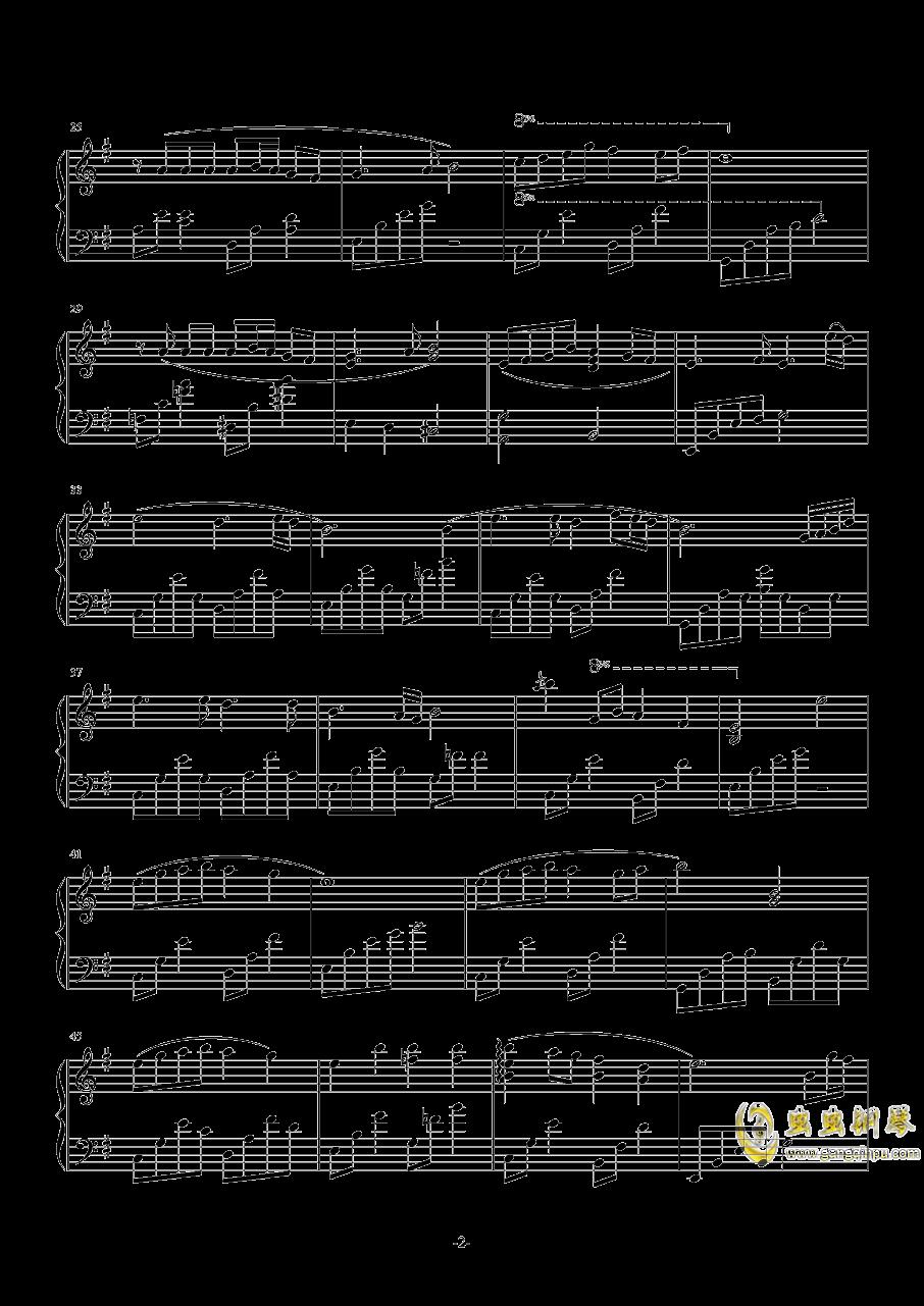 樱钢琴谱 第2页