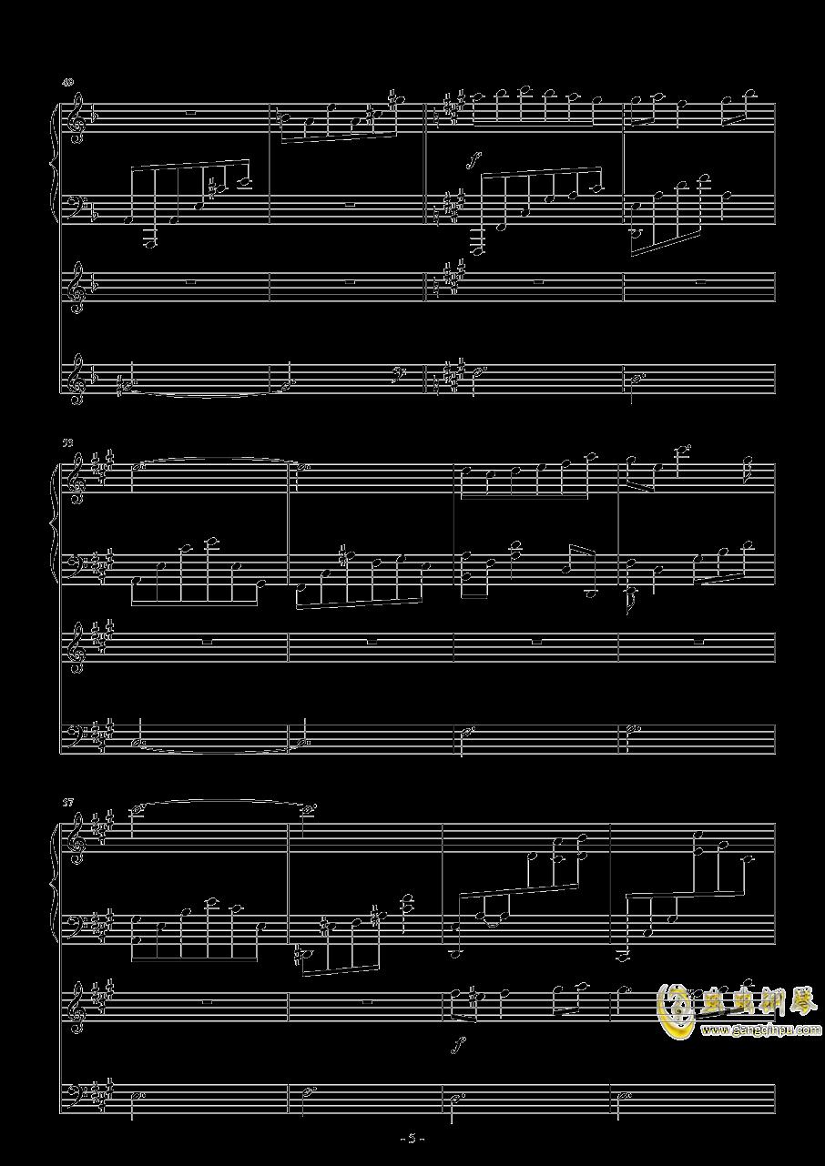 随风飘荡钢琴谱 第5页