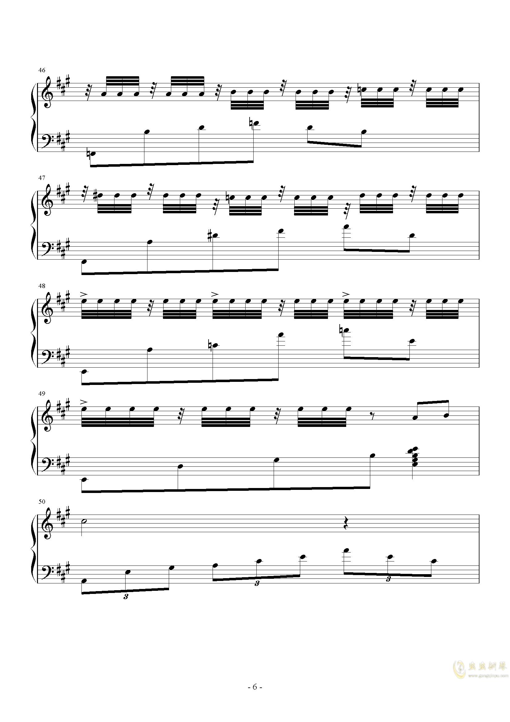 落叶之舞钢琴谱 第6页