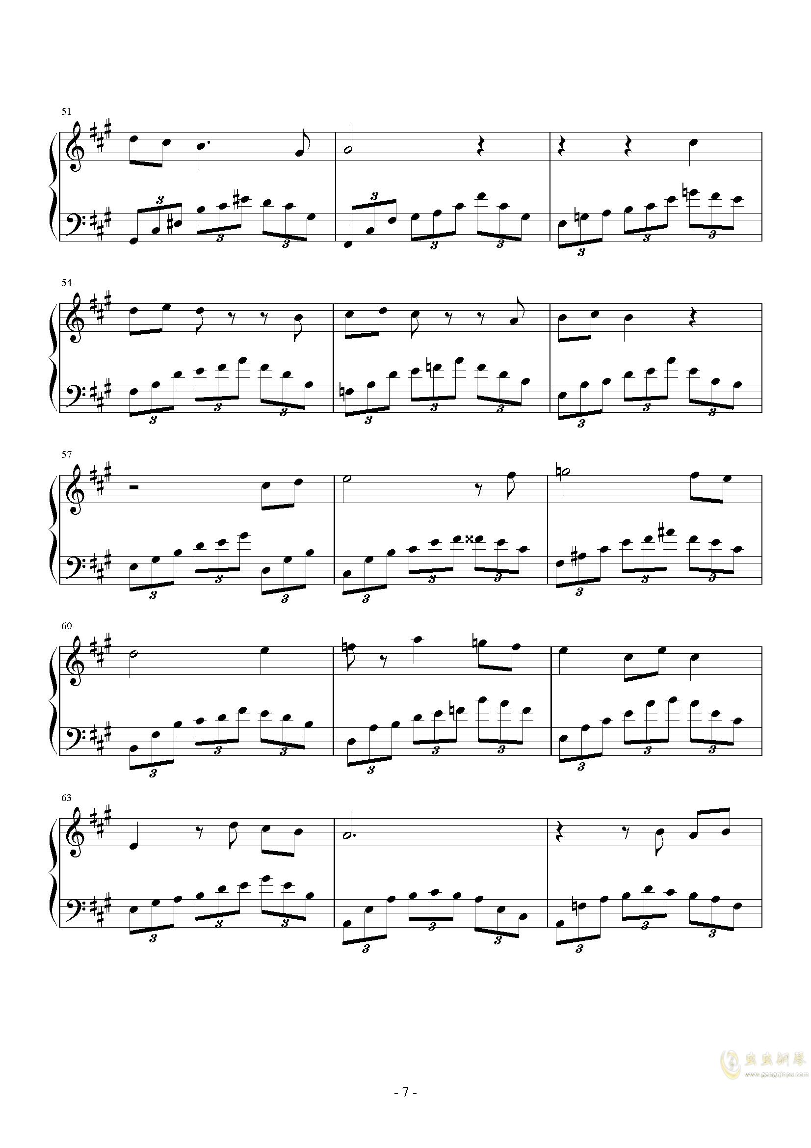 落叶之舞钢琴谱 第7页