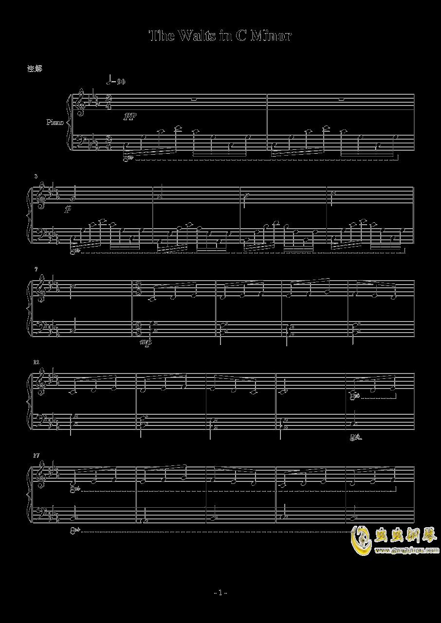 C小调圆舞曲钢琴谱 第1页