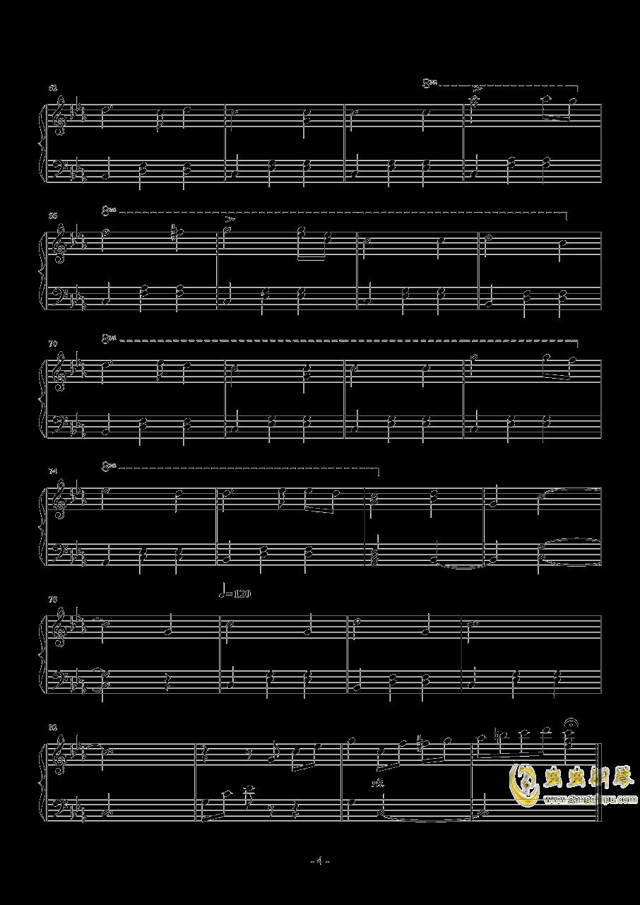 C小调圆舞曲钢琴谱 第4页