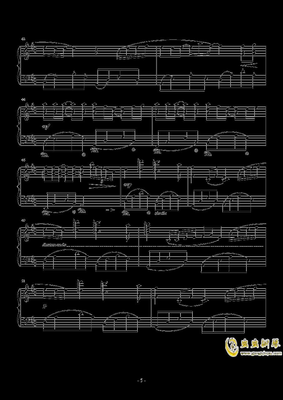 菊次郎的夏天钢琴谱 第5页