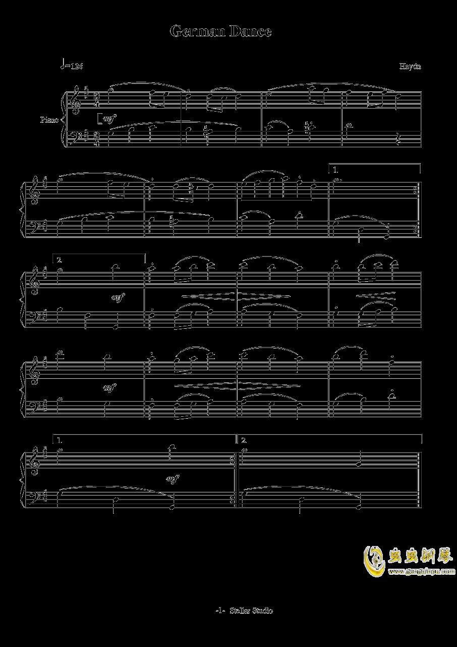 German Dance钢琴谱 第1页