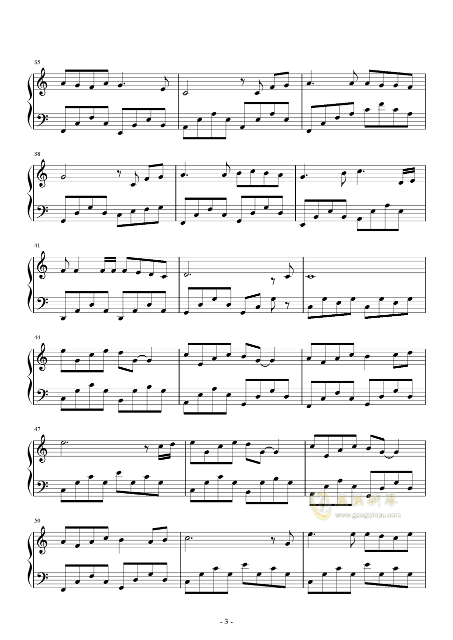 奔跑的蜗牛钢琴谱 第3页