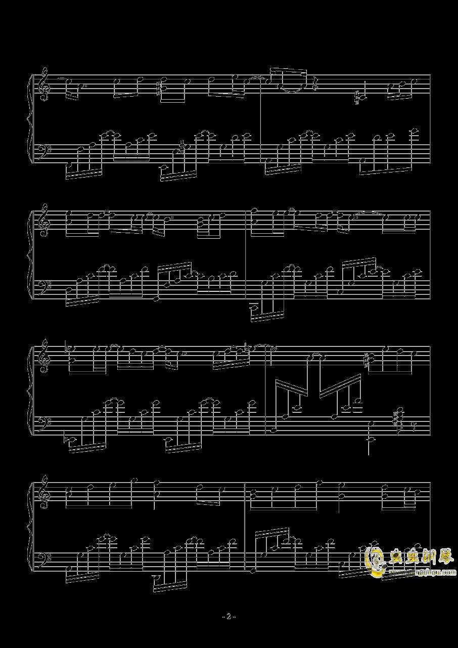 黑色毛衣钢琴谱 第2页
