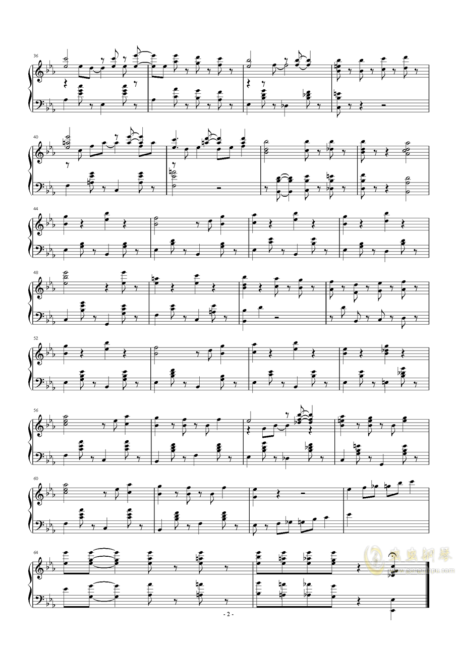 【押尾桑】Friend钢琴谱 第2页