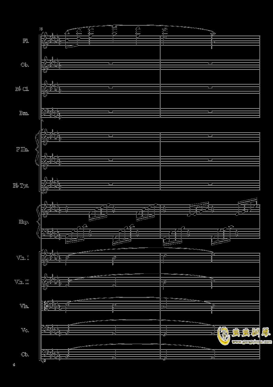 Clair de lune, Op.109钢琴谱 第6页