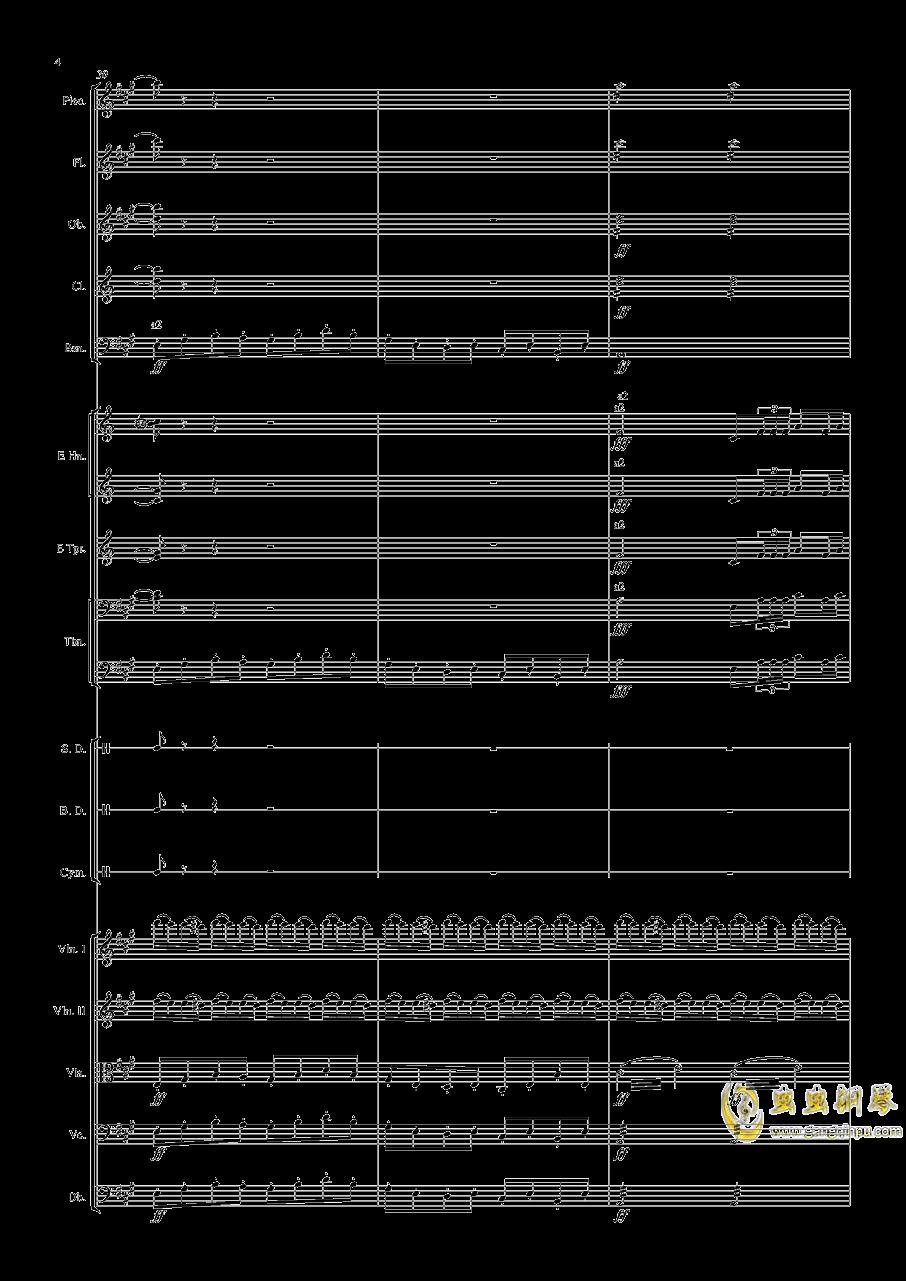 轻骑兵序曲钢琴谱 第4页