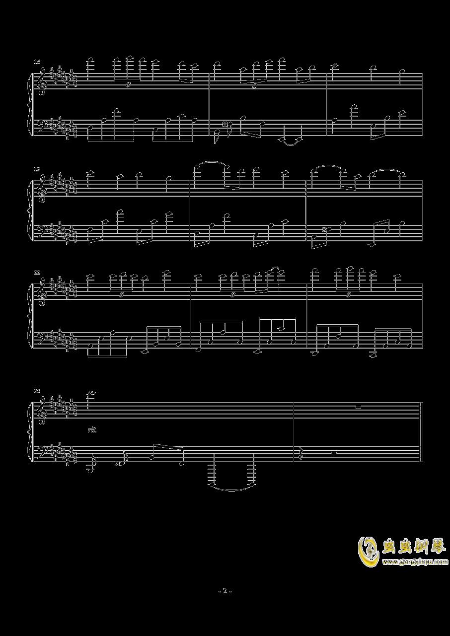 雨夜(demo)钢琴谱 第2页