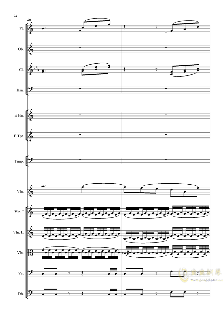 e小调小提琴协奏曲Op.64钢琴谱 第24页