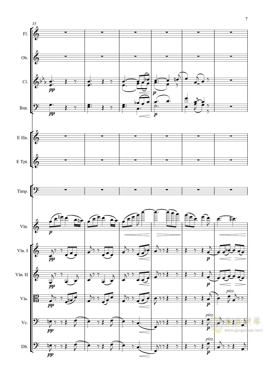 e小调小提琴协奏曲Op.64钢琴谱 第7页