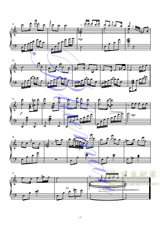 花儿为什么这样红钢琴谱 第3页