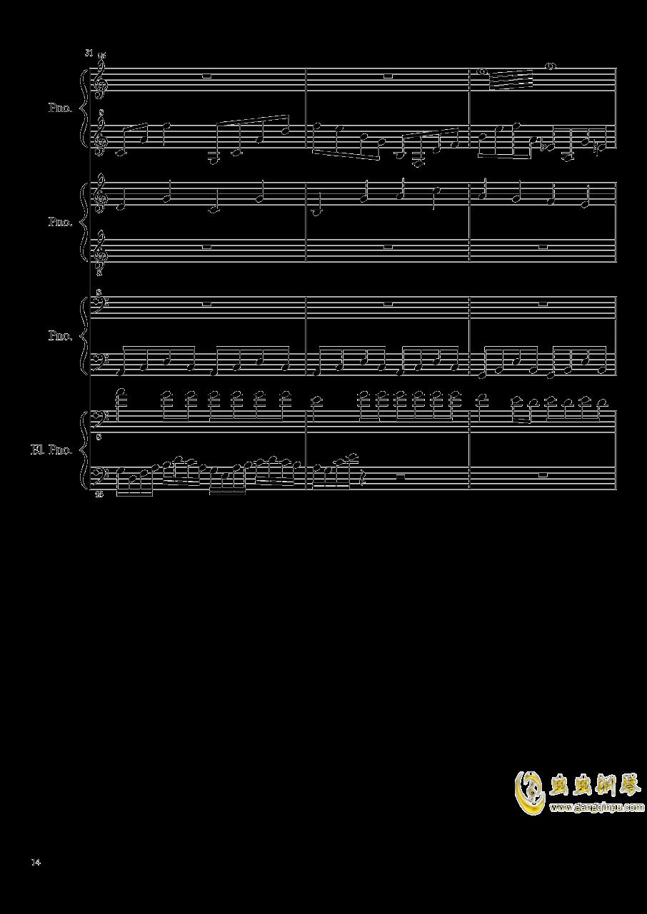 黑乐谱钢琴谱 第14页