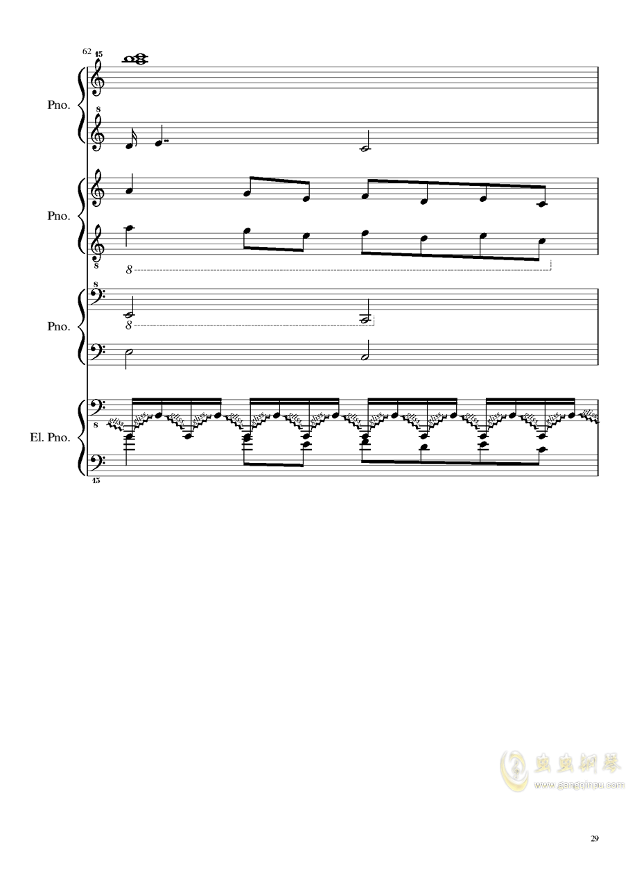 黑乐谱钢琴谱 第29页
