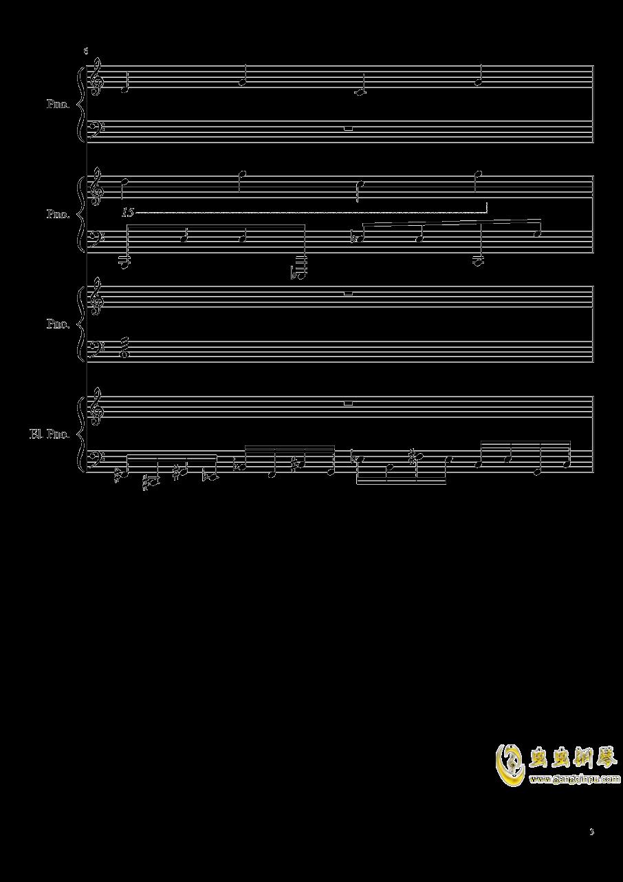 黑乐谱钢琴谱 第3页