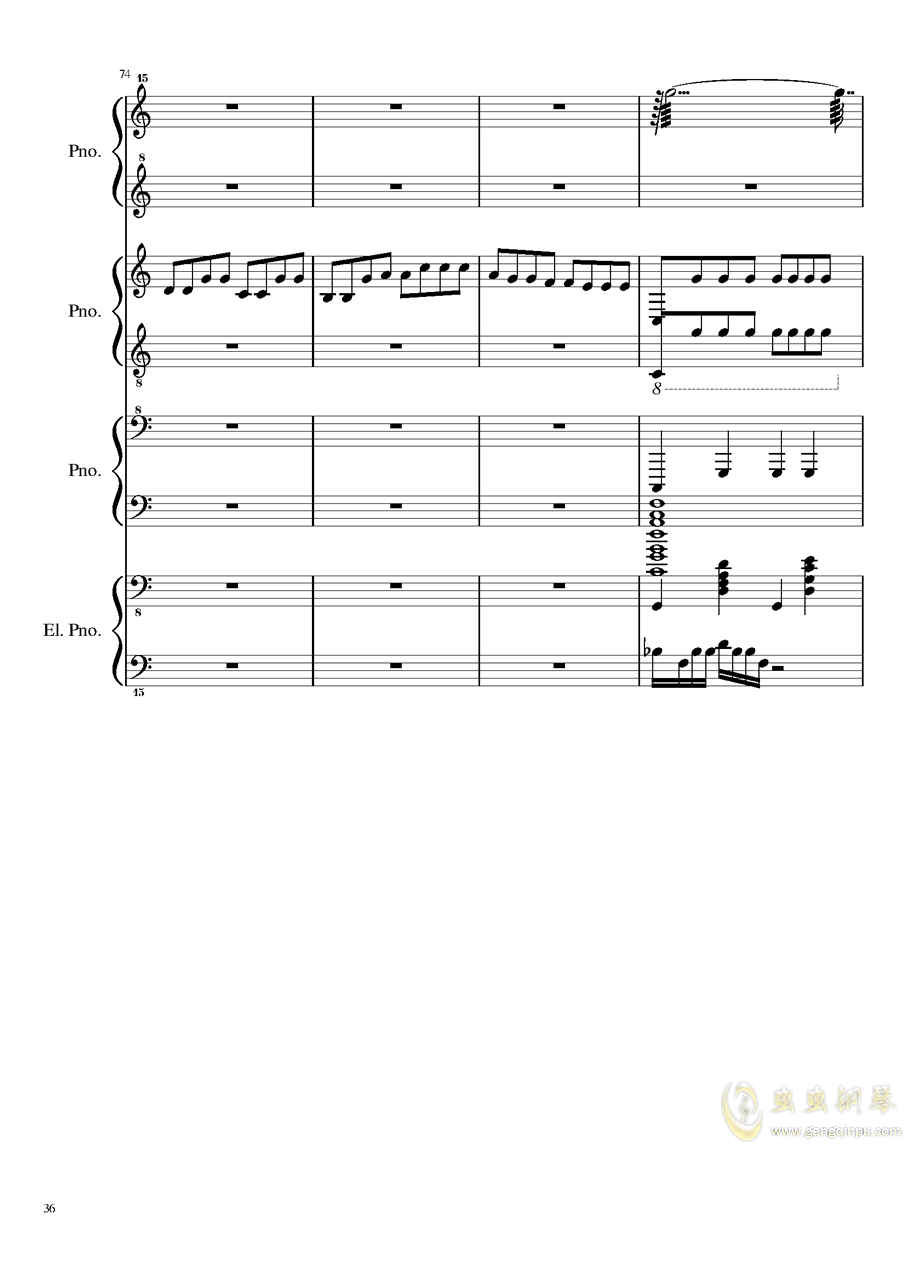 黑乐谱钢琴谱 第36页