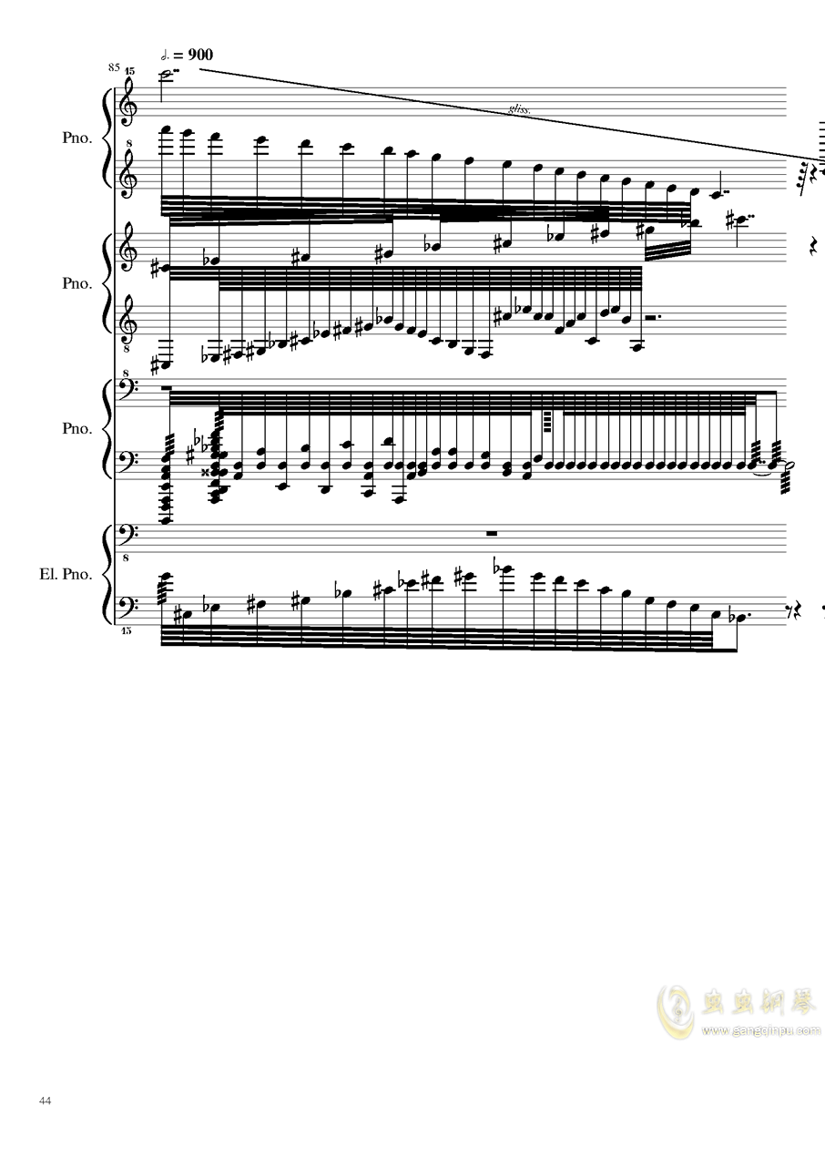 黑乐谱钢琴谱 第44页