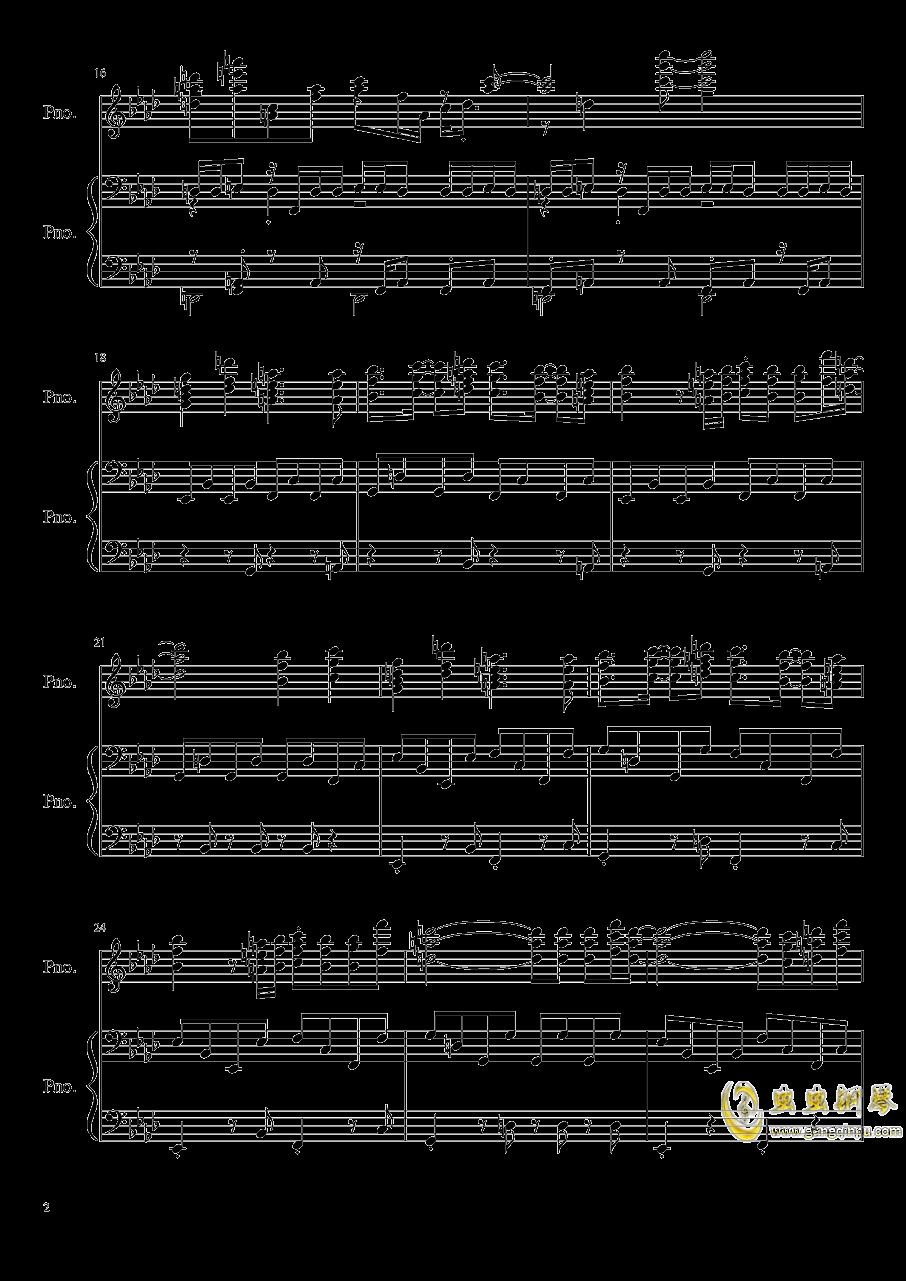 孤独月钢琴谱 第2页