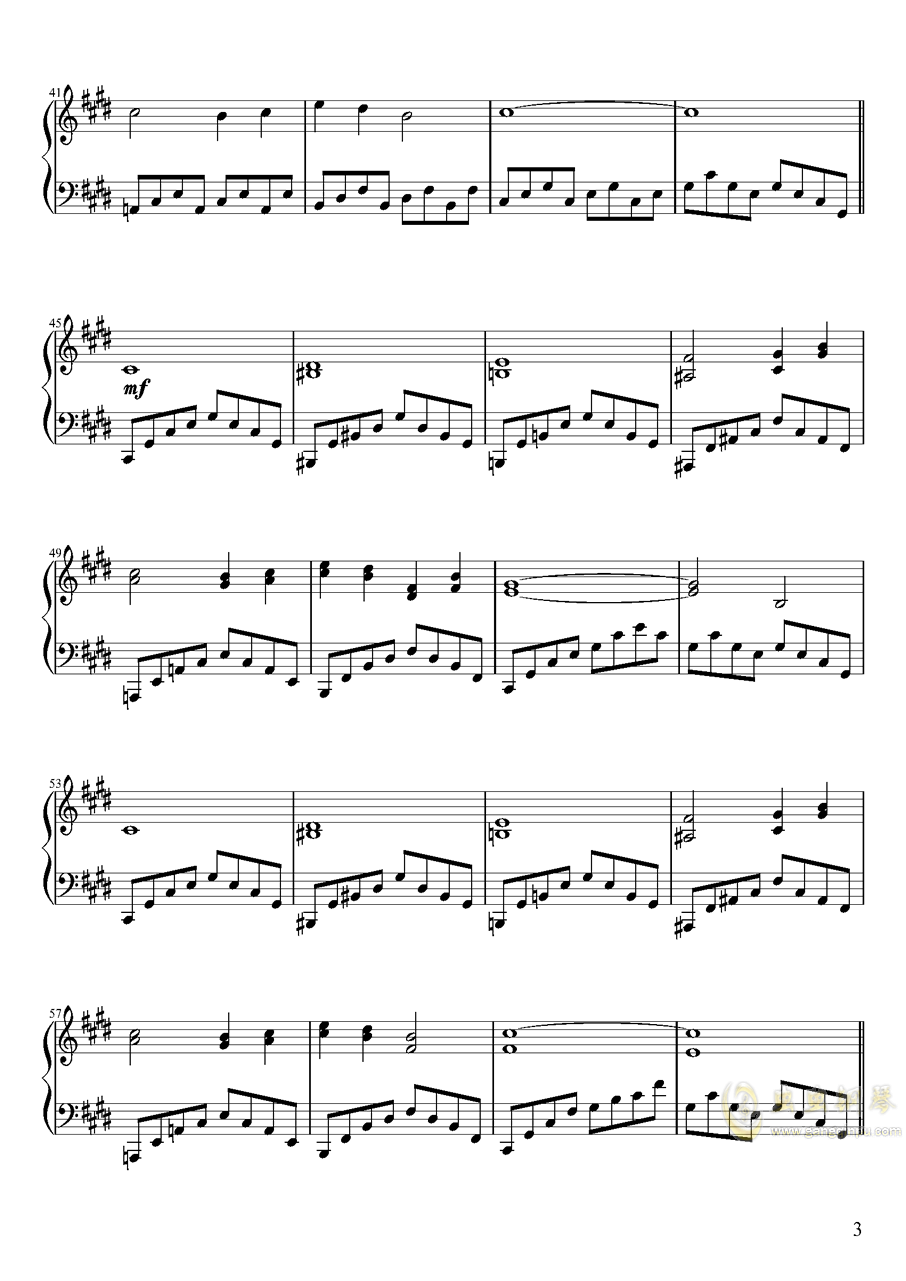 Pure Fries钢琴谱 第3页
