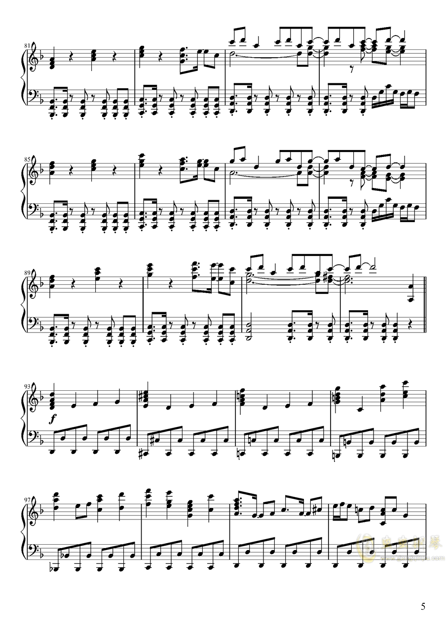 Pure Fries钢琴谱 第5页