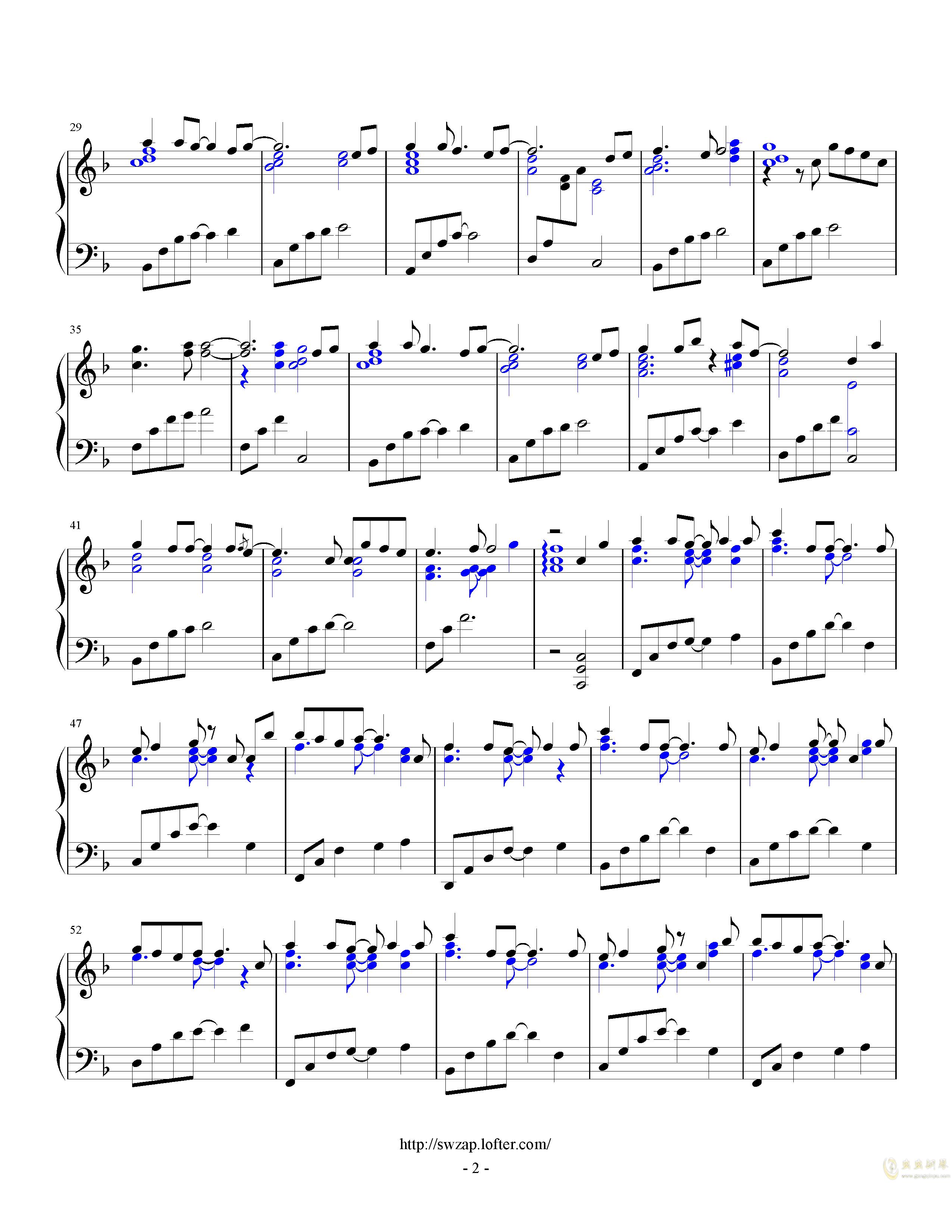 letter song钢琴谱 第2页