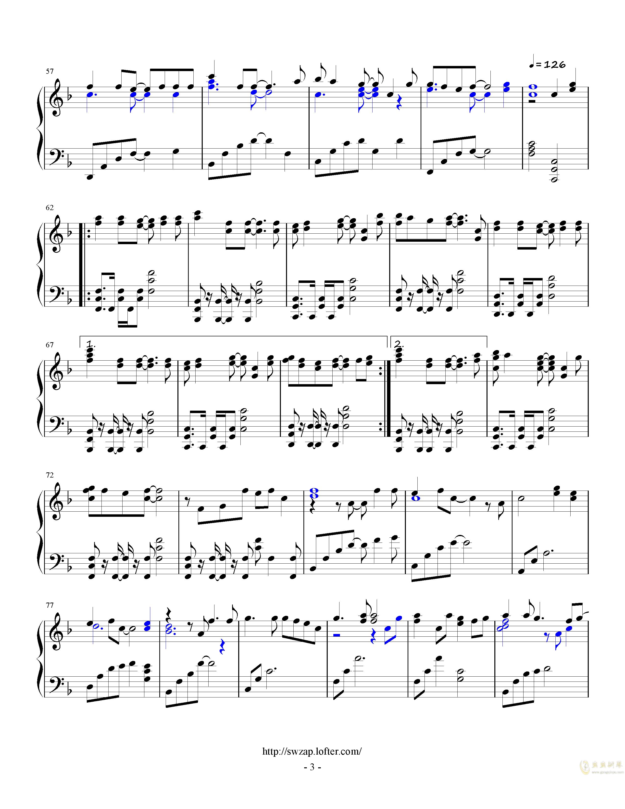 letter song钢琴谱 第3页