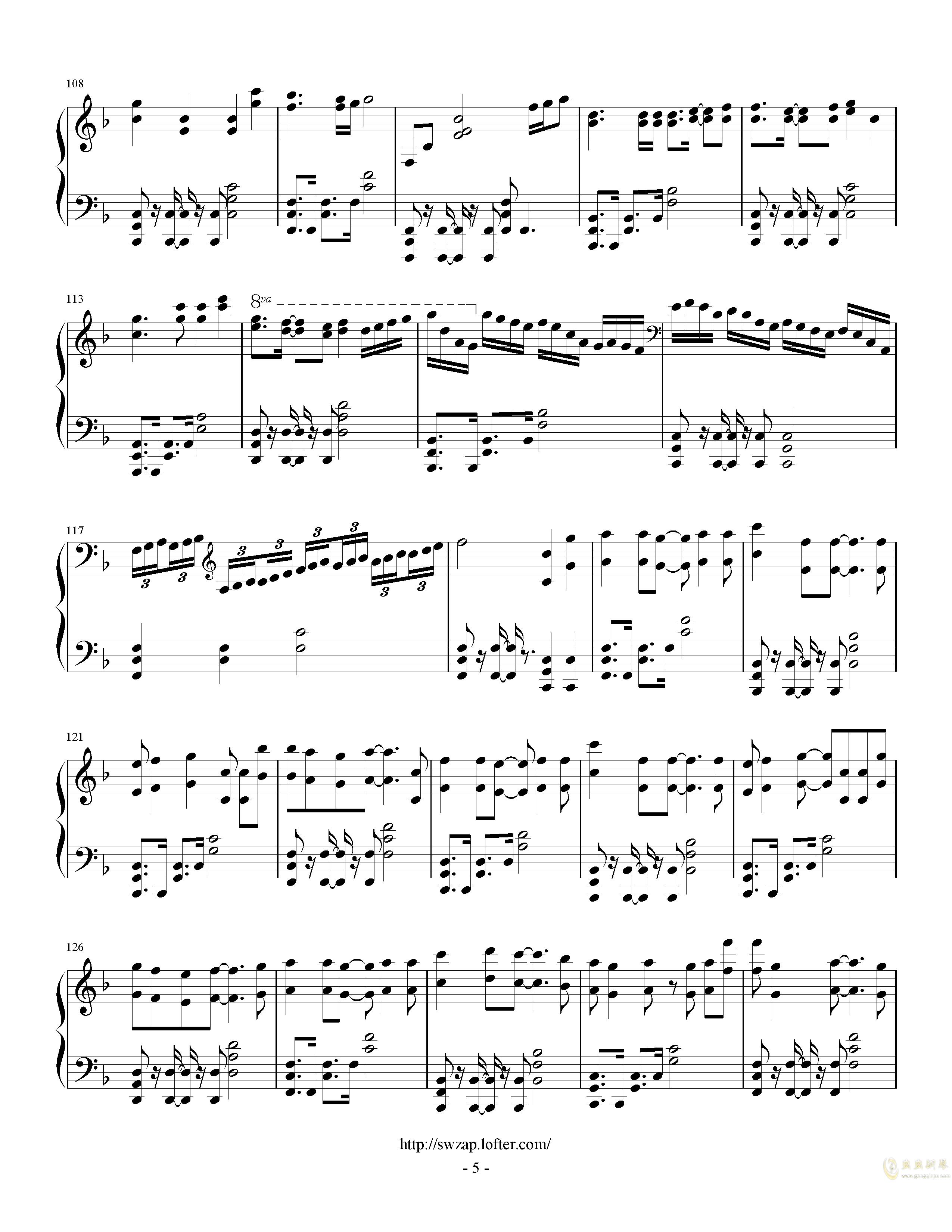 letter song钢琴谱 第5页