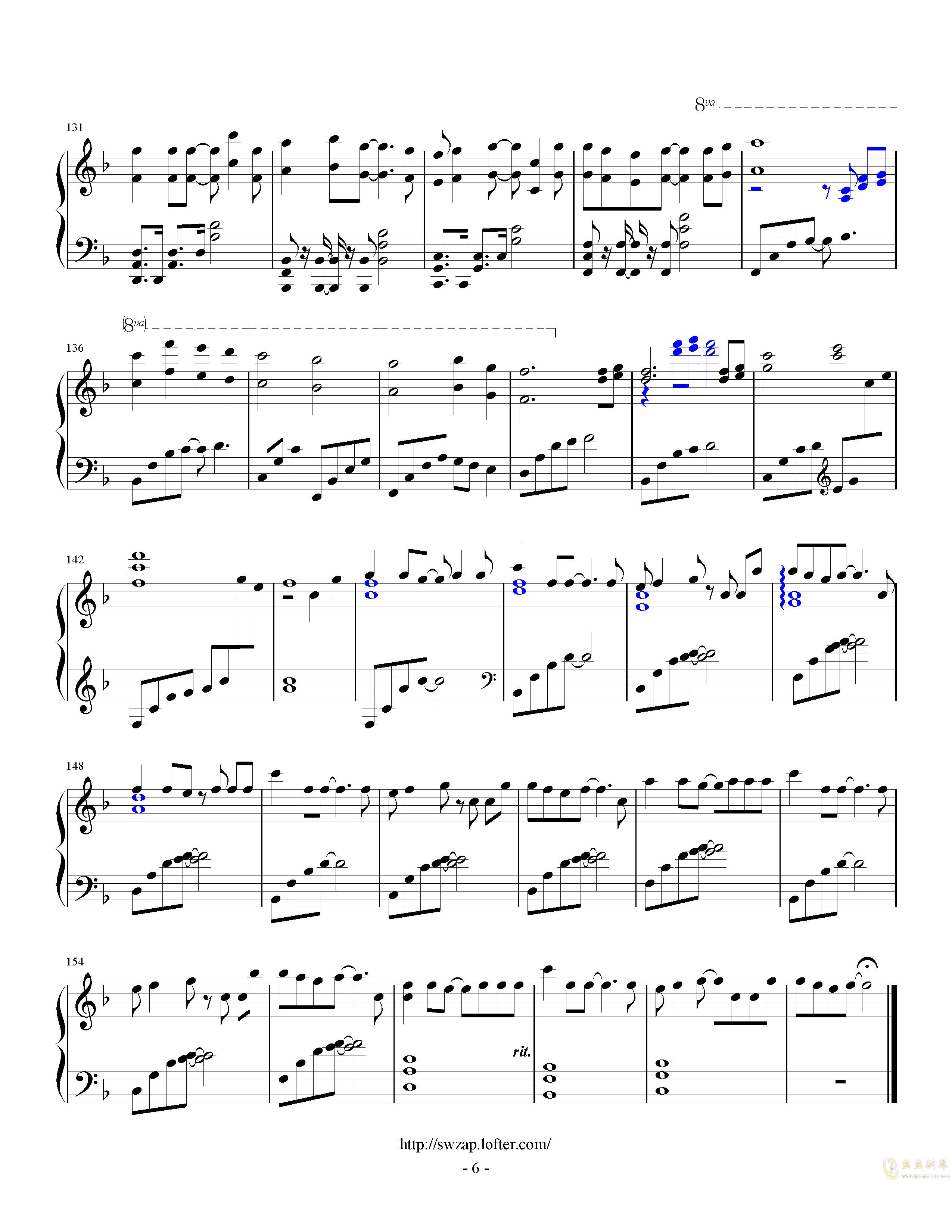 letter song钢琴谱 第6页