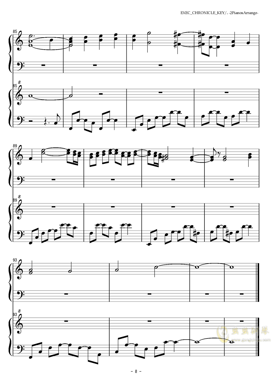 EXEC_CHRONICLE_KEY钢琴谱 第8页