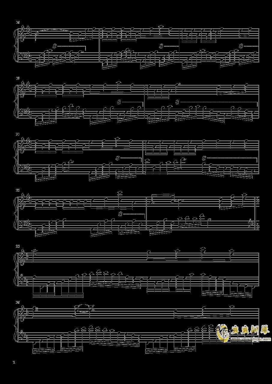 归雁钢琴谱 第2页