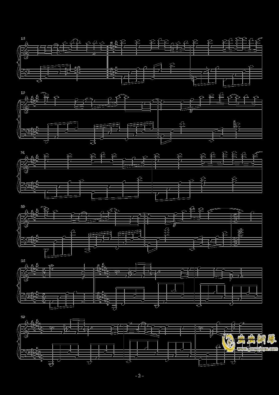 等得起钢琴谱 第2页
