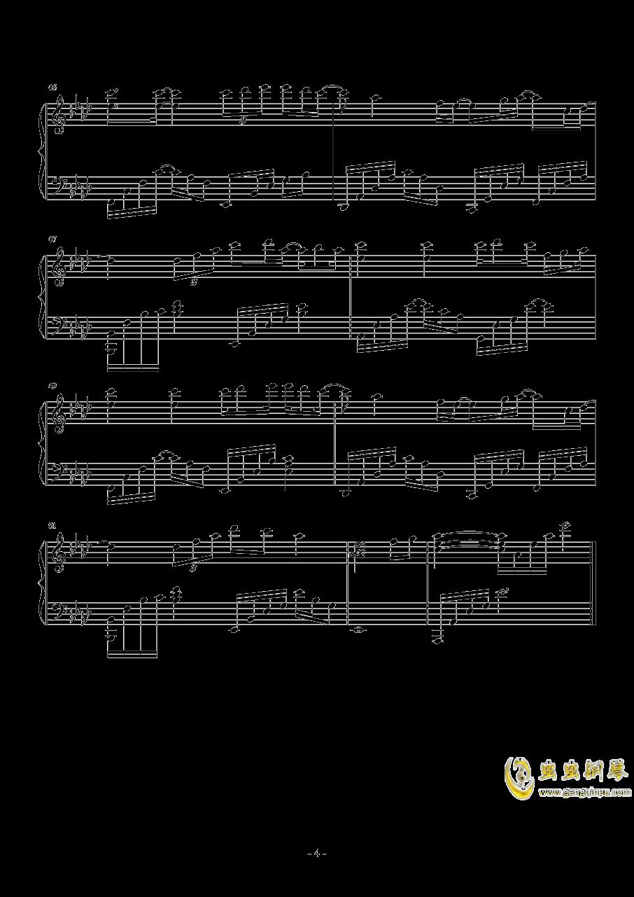 等得起钢琴谱 第4页