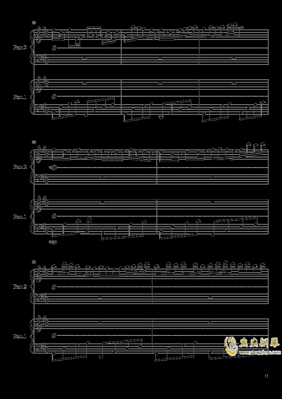 卡农钢琴谱 第11页