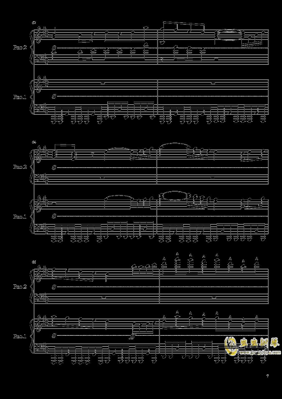 卡农钢琴谱 第7页