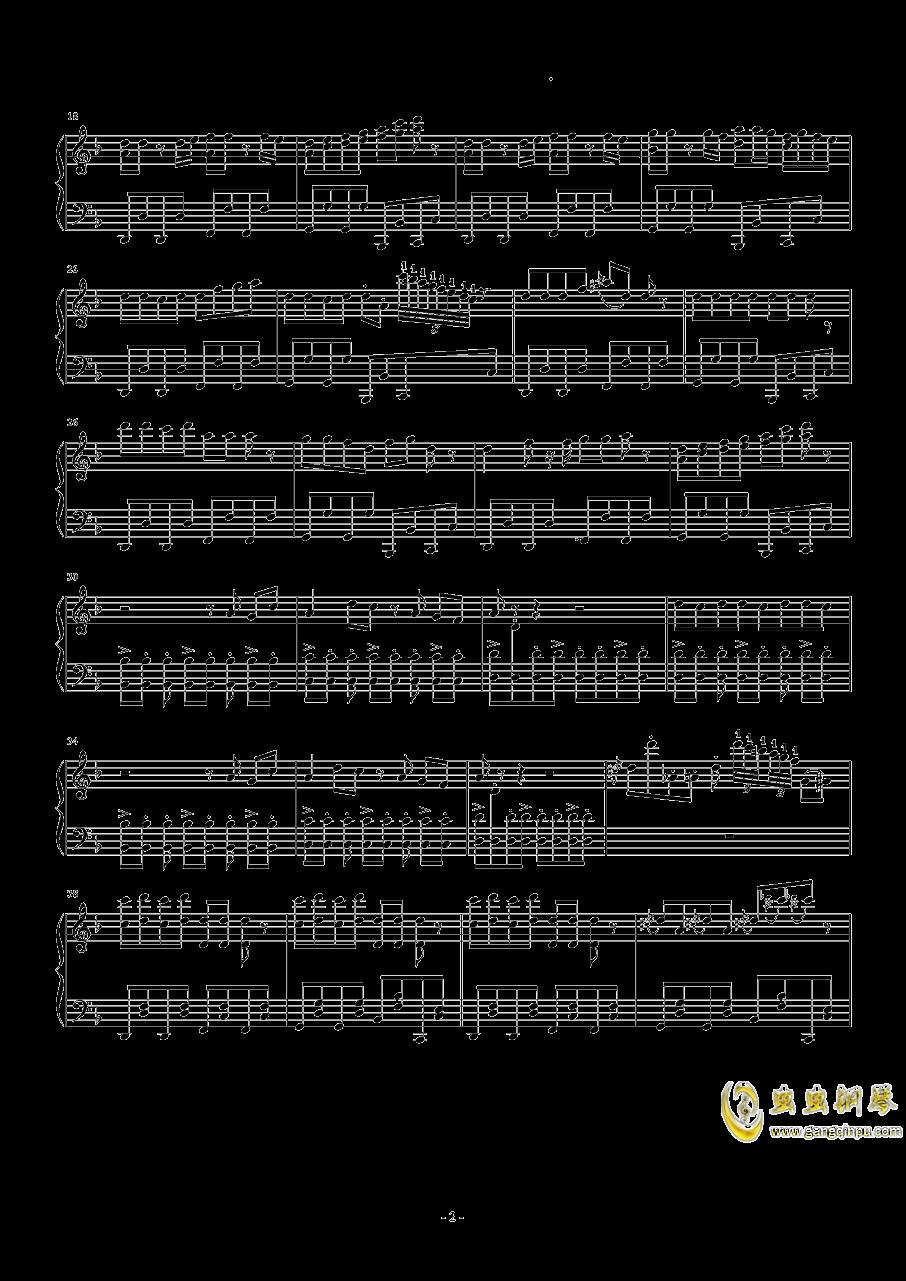 卡路里钢琴谱 第2页