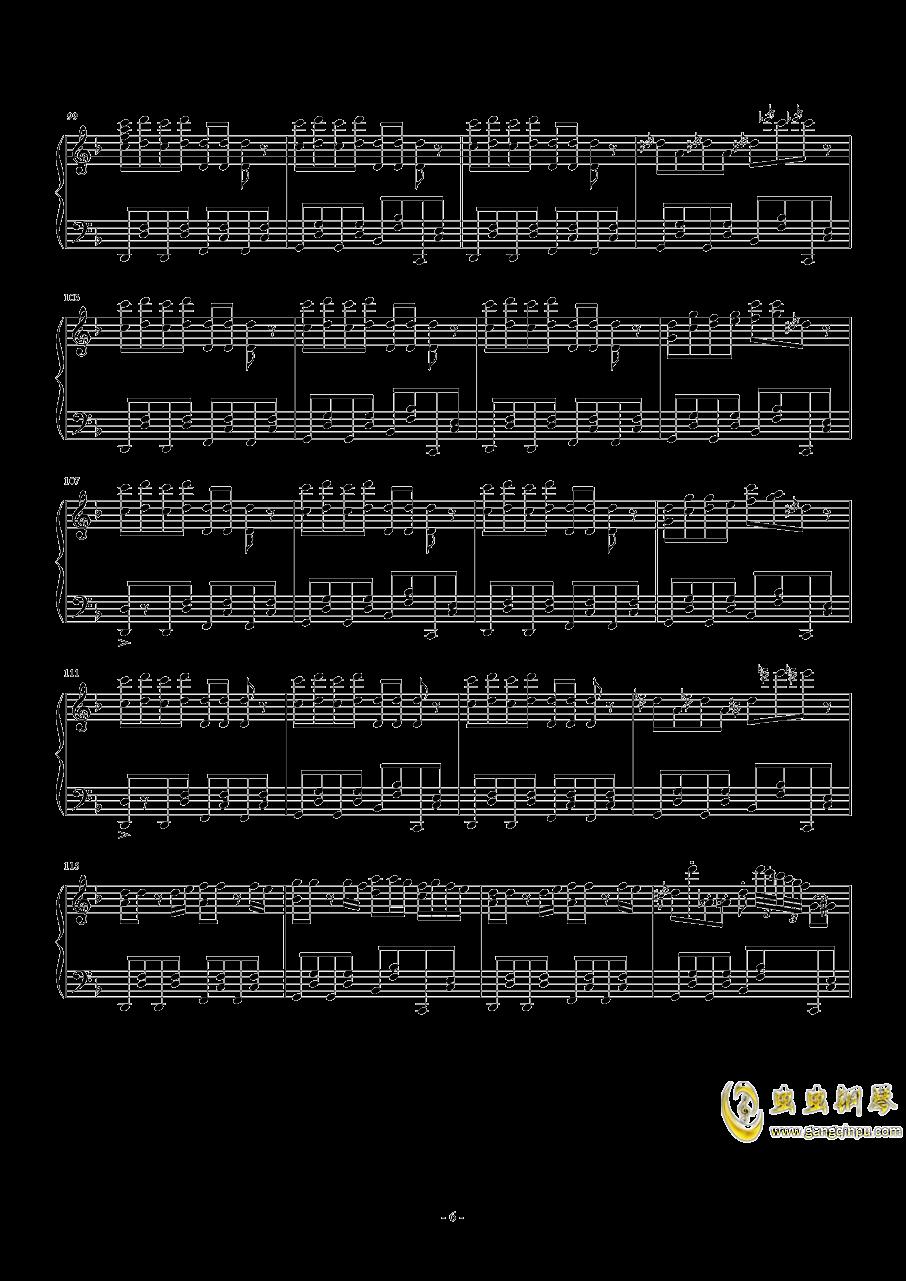 卡路里钢琴谱 第6页