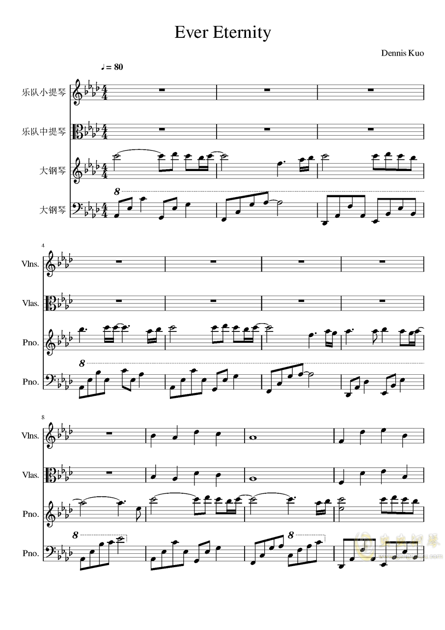 Ever Eternity钢琴谱 第1页