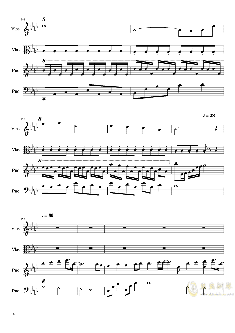 Ever Eternity钢琴谱 第14页