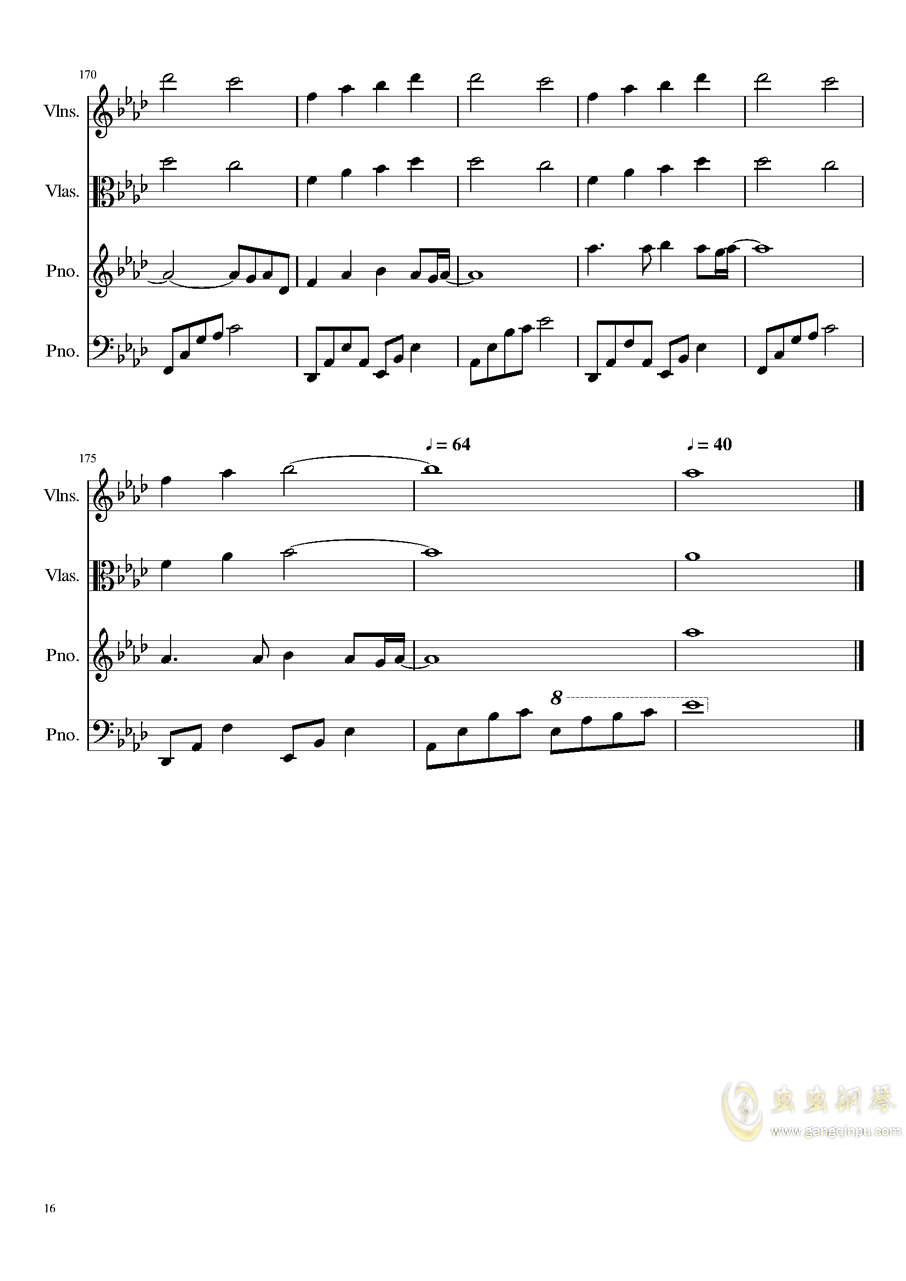 Ever Eternity钢琴谱 第16页