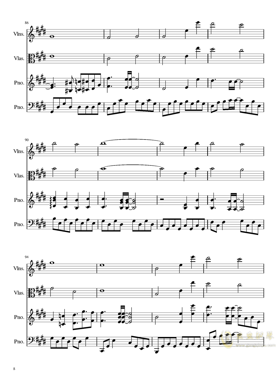 Ever Eternity钢琴谱 第8页