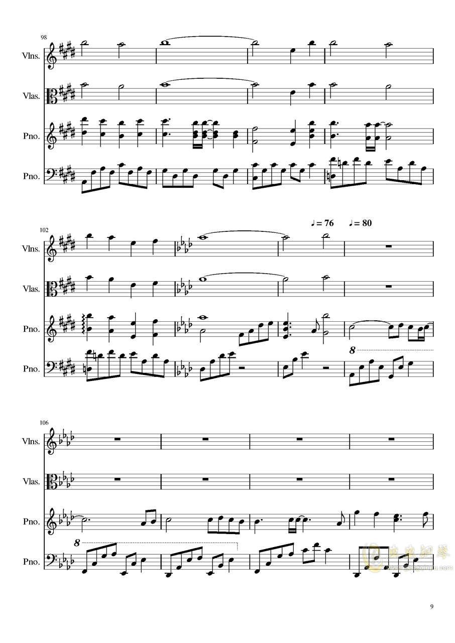 Ever Eternity钢琴谱 第9页
