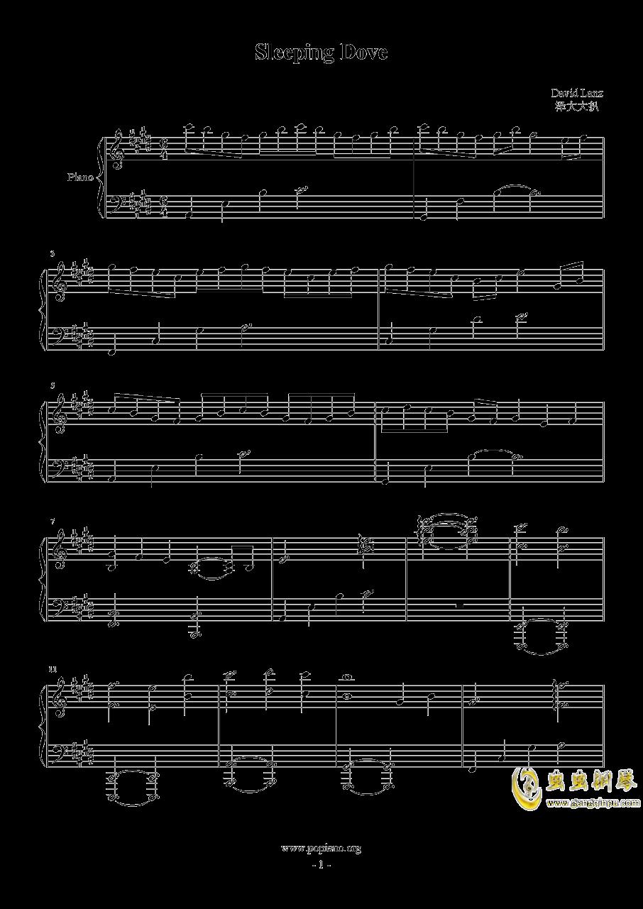 Sleeping Dove钢琴谱 第1页