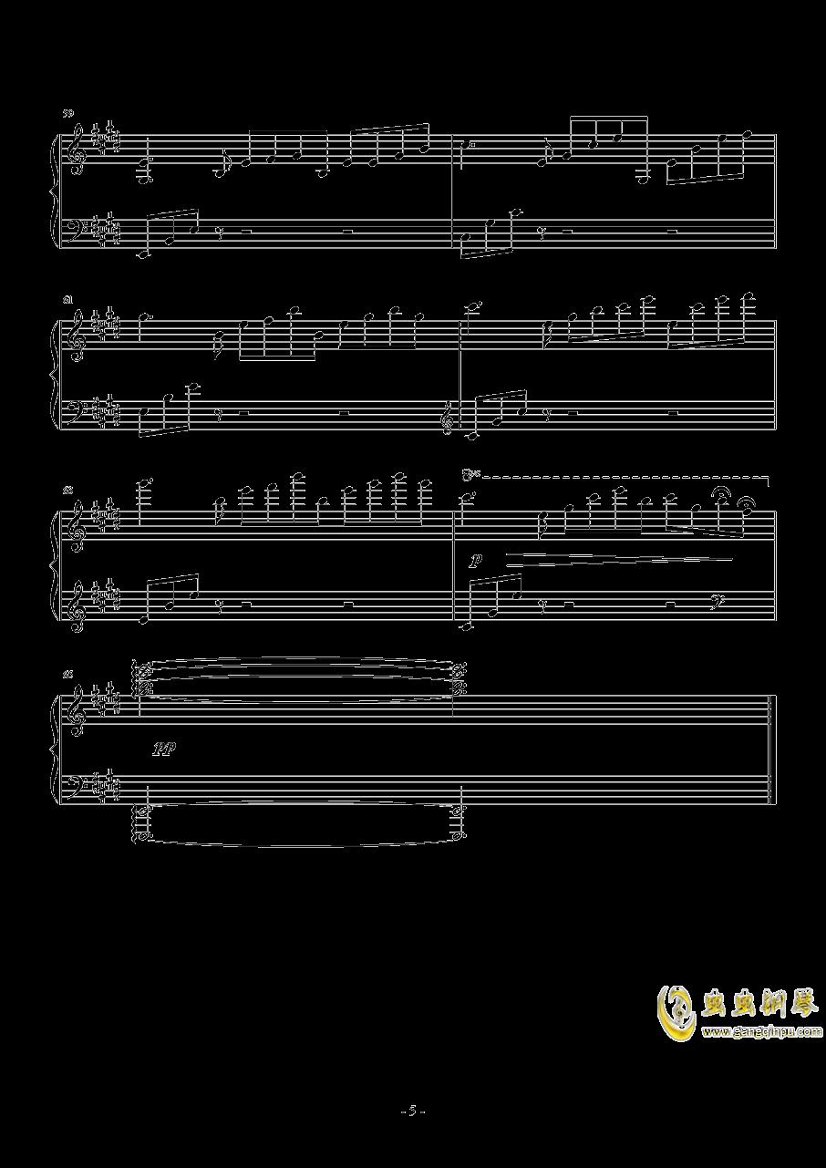 Sleeping Dove钢琴谱 第5页