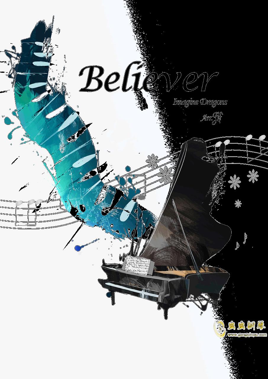 believer钢琴谱