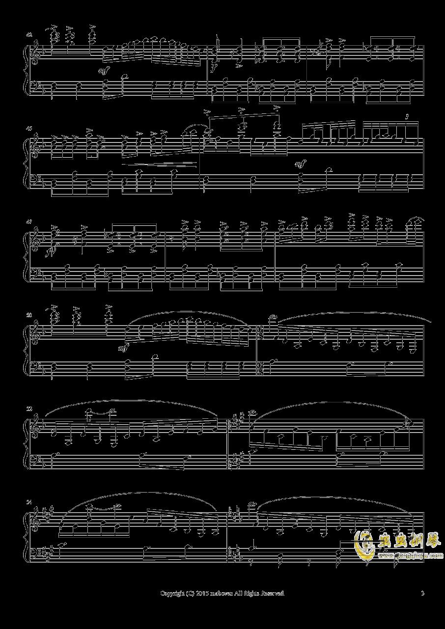 神秘的人偶钢琴谱 第3页