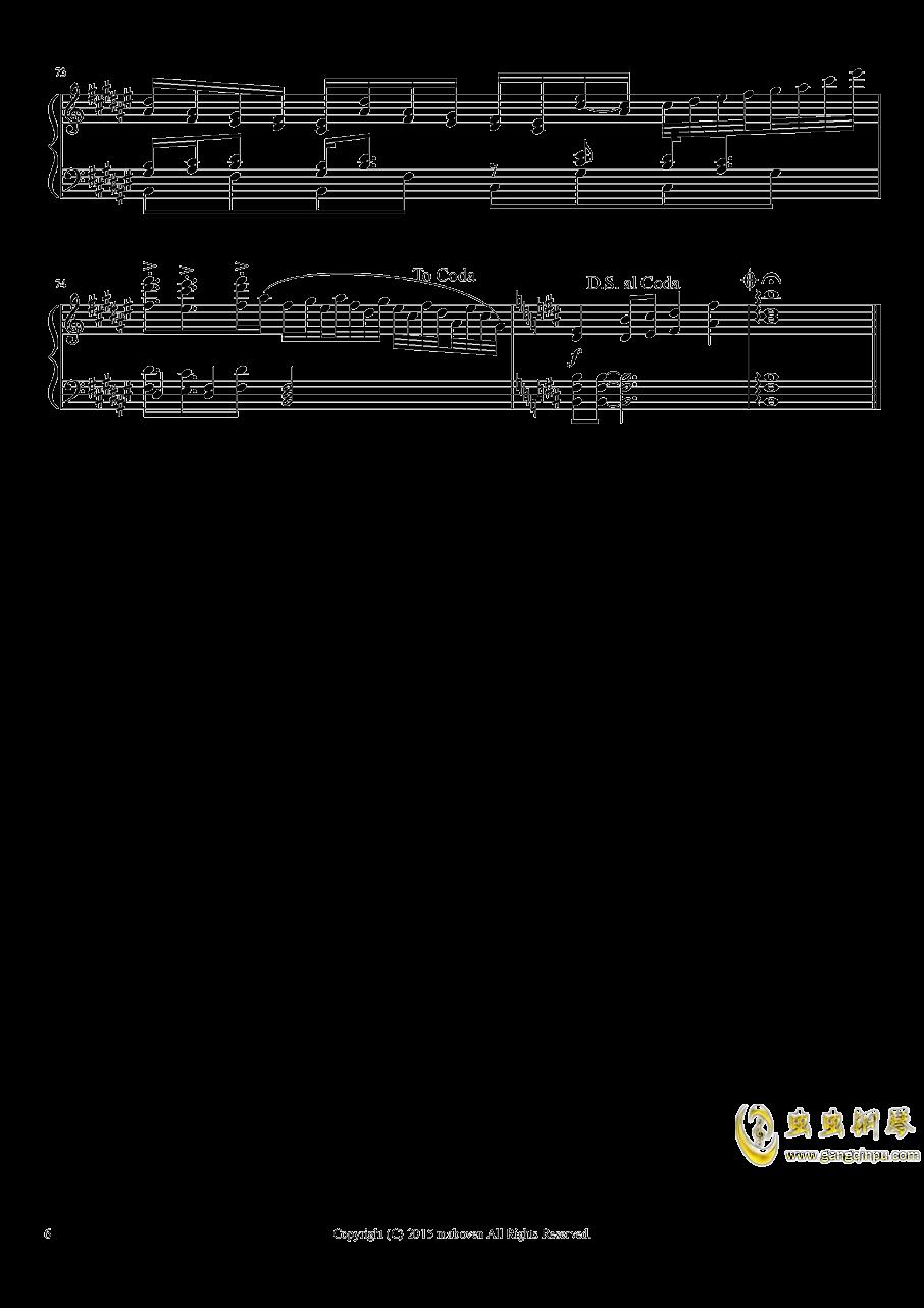 神秘的人偶钢琴谱 第6页